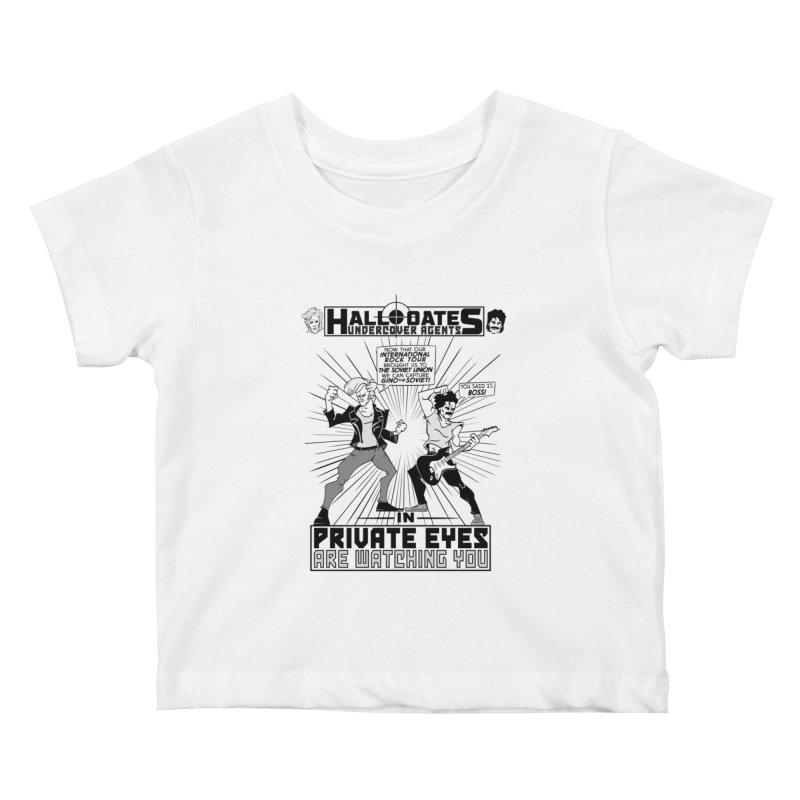 Hall and Oates - Private Eyes Kids Baby T-Shirt by foodstampdavis's Artist Shop
