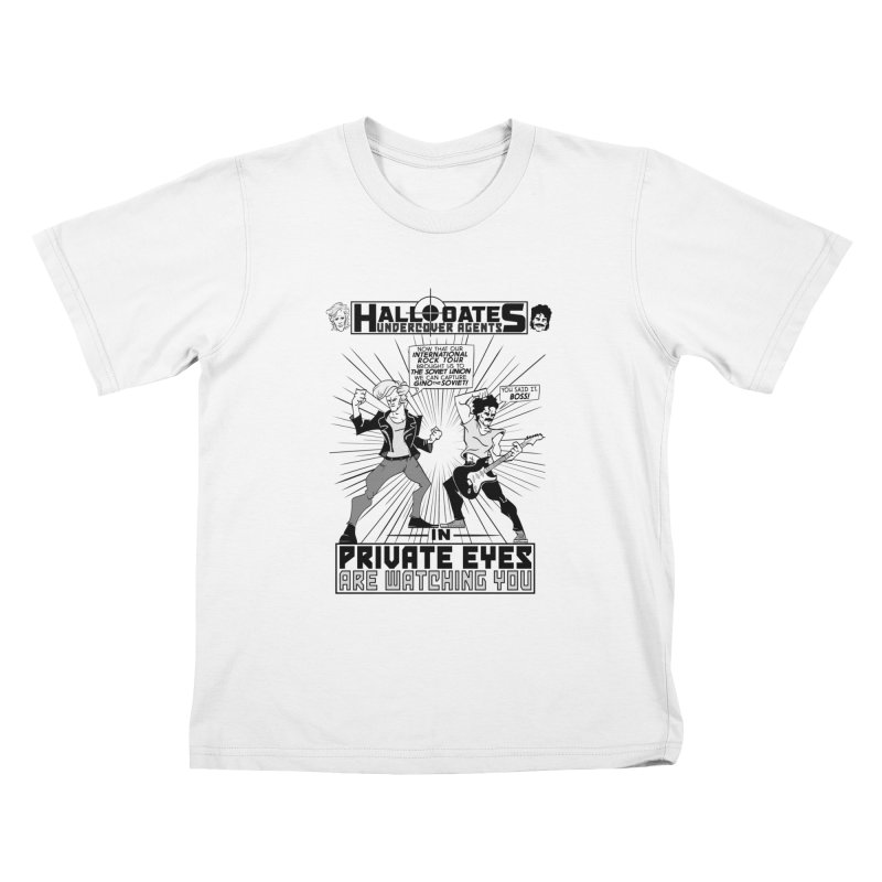 Hall and Oates - Private Eyes Kids T-Shirt by foodstampdavis's Artist Shop