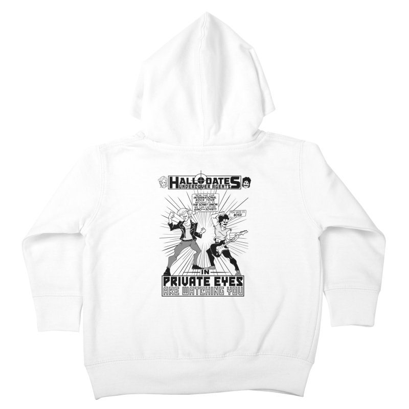 Hall and Oates - Private Eyes Kids Toddler Zip-Up Hoody by foodstampdavis's Artist Shop