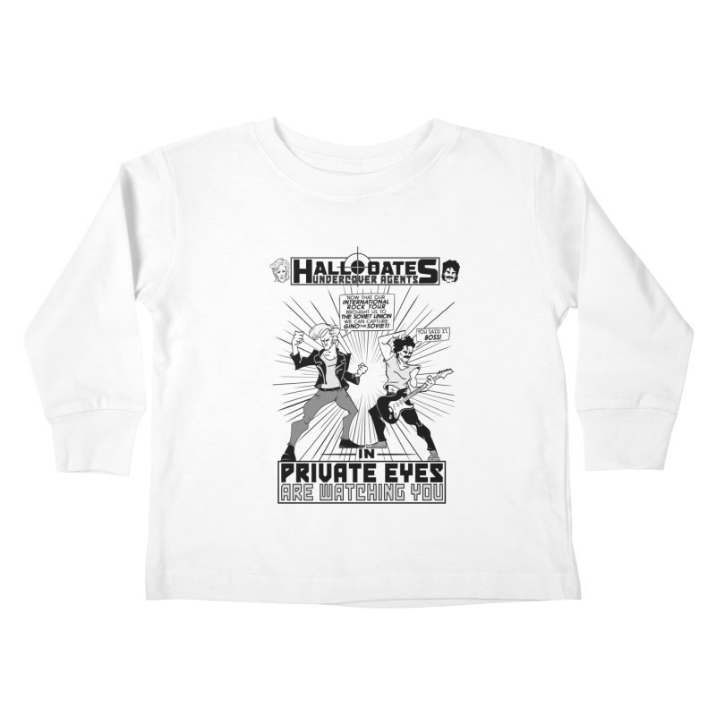 Hall and Oates - Private Eyes Kids Toddler Longsleeve T-Shirt by foodstampdavis's Artist Shop