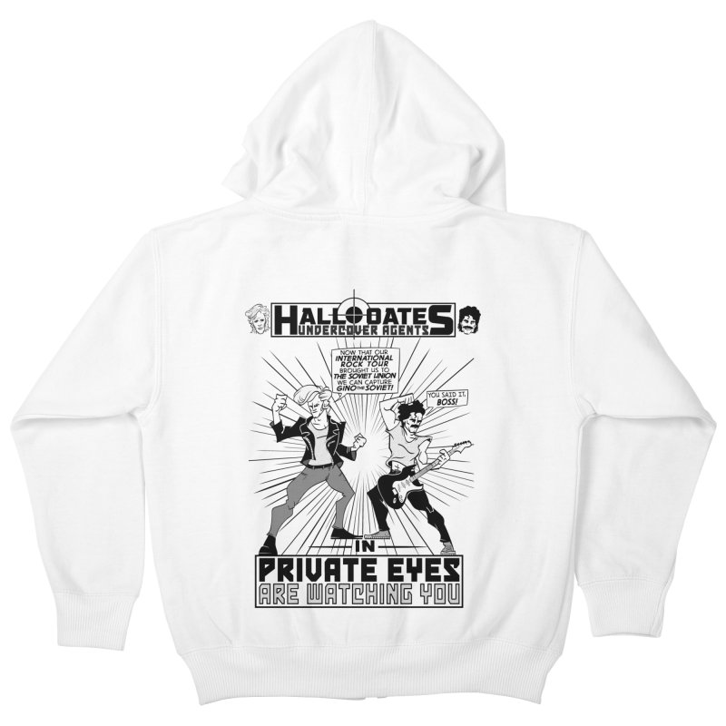 Hall and Oates - Private Eyes Kids Zip-Up Hoody by foodstampdavis's Artist Shop