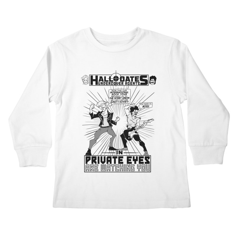 Hall and Oates - Private Eyes Kids Longsleeve T-Shirt by foodstampdavis's Artist Shop