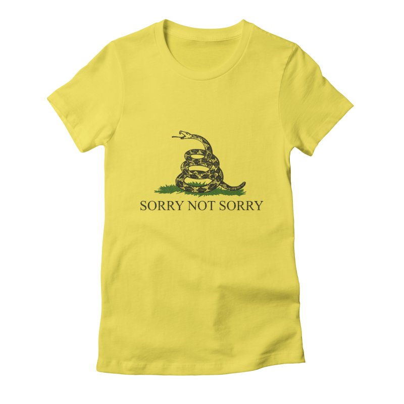 SORRY NOT SORRY Women's French Terry Zip-Up Hoody by foodstampdavis's Artist Shop
