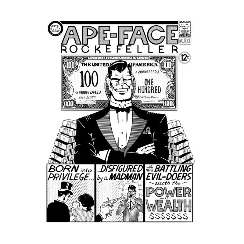 Ape-Face Rockefeller Men's Zip-Up Hoody by foodstampdavis's Artist Shop