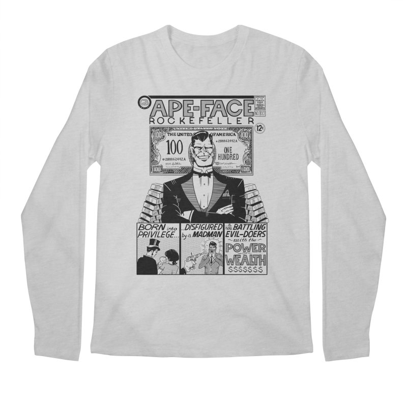 Ape-Face Rockefeller Men's Longsleeve T-Shirt by foodstampdavis's Artist Shop