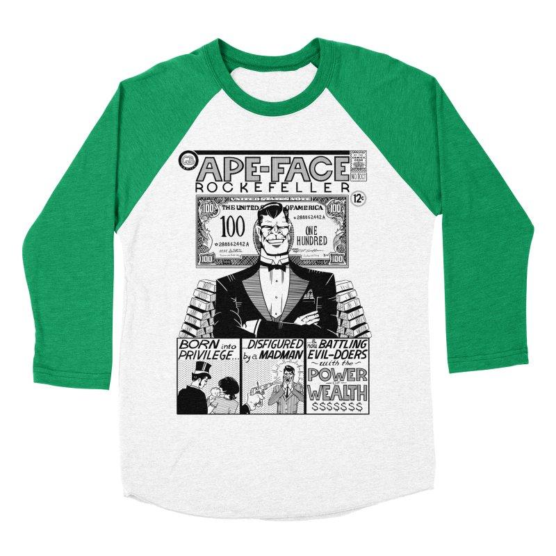 Ape-Face Rockefeller Men's Baseball Triblend T-Shirt by foodstampdavis's Artist Shop