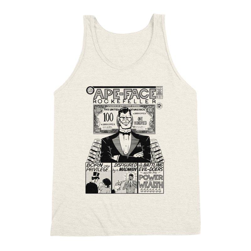 Ape-Face Rockefeller Men's Triblend Tank by foodstampdavis's Artist Shop