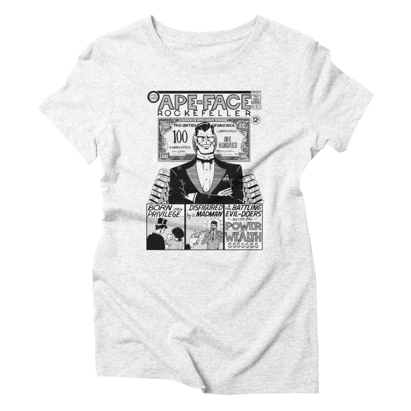 Ape-Face Rockefeller Women's Triblend T-shirt by foodstampdavis's Artist Shop