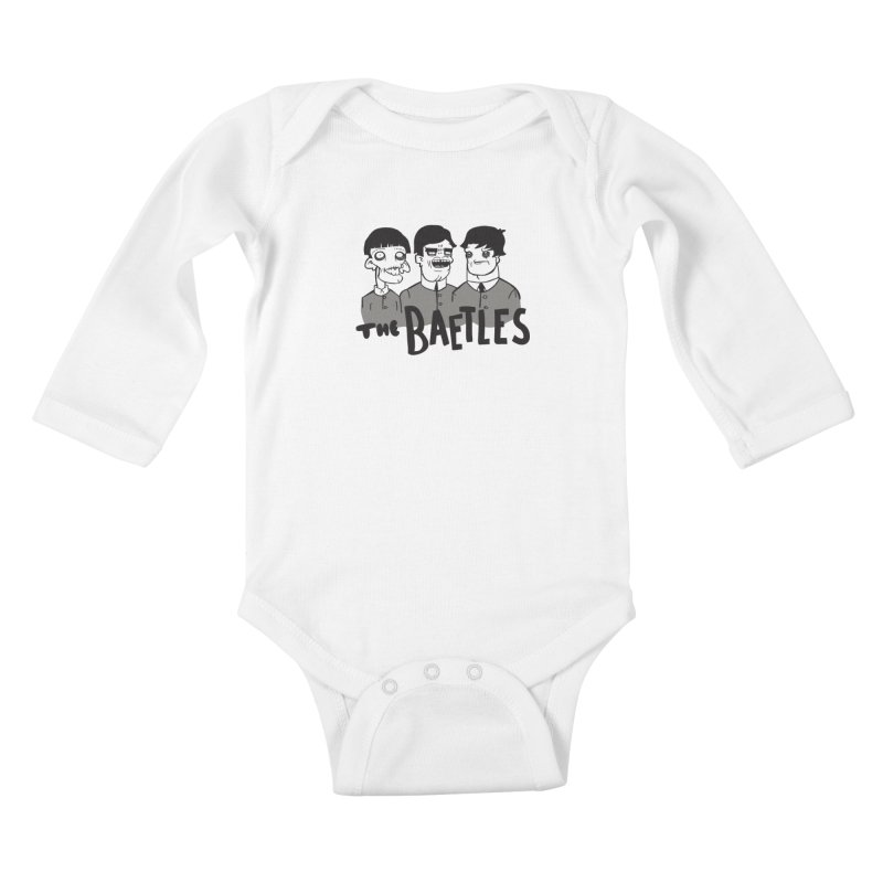 The Baetles: The Fabulous Four! Kids Baby Longsleeve Bodysuit by foodstampdavis's Artist Shop