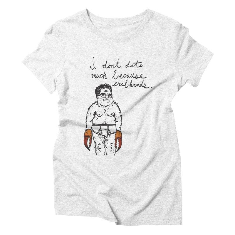 Crabhands Women's Triblend T-shirt by foodstampdavis's Artist Shop
