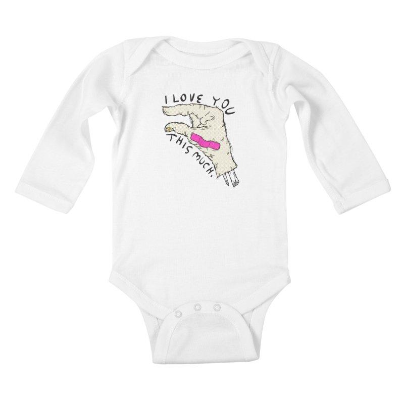 Not Much Kids Baby Longsleeve Bodysuit by foodstampdavis's Artist Shop