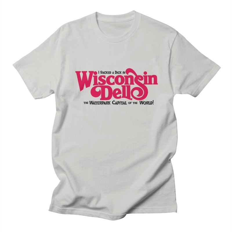 Wisconsin Dells: Water Park Capital of the World! Men's T-shirt by foodstampdavis's Artist Shop