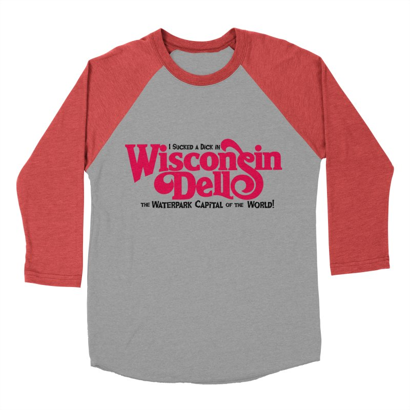 Wisconsin Dells: Water Park Capital of the World! Men's Baseball Triblend Longsleeve T-Shirt by foodstampdavis's Artist Shop