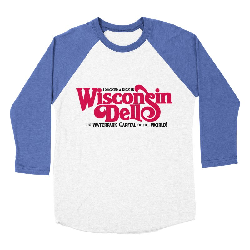 Wisconsin Dells: Water Park Capital of the World! Men's Baseball Triblend Longsleeve T-Shirt by foodstampdavis's Artist Shop