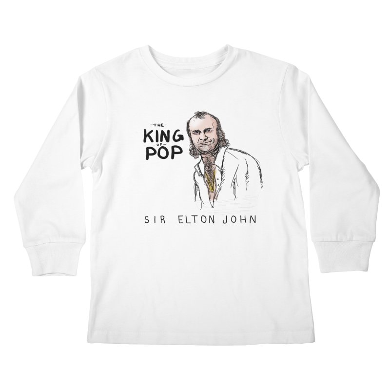 King of Pop Kids Longsleeve T-Shirt by foodstampdavis's Artist Shop