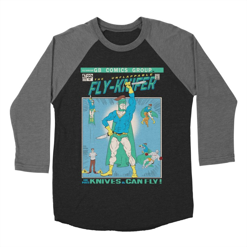 The Unflappable Fly-Knifer Men's Baseball Triblend Longsleeve T-Shirt by foodstampdavis's Artist Shop