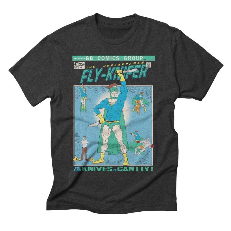 The Unflappable Fly-Knifer Men's Triblend T-shirt by foodstampdavis's Artist Shop
