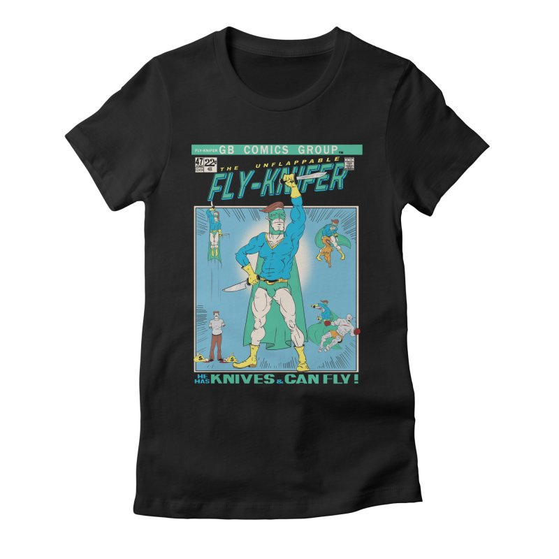The Unflappable Fly-Knifer Women's Fitted T-Shirt by foodstampdavis's Artist Shop