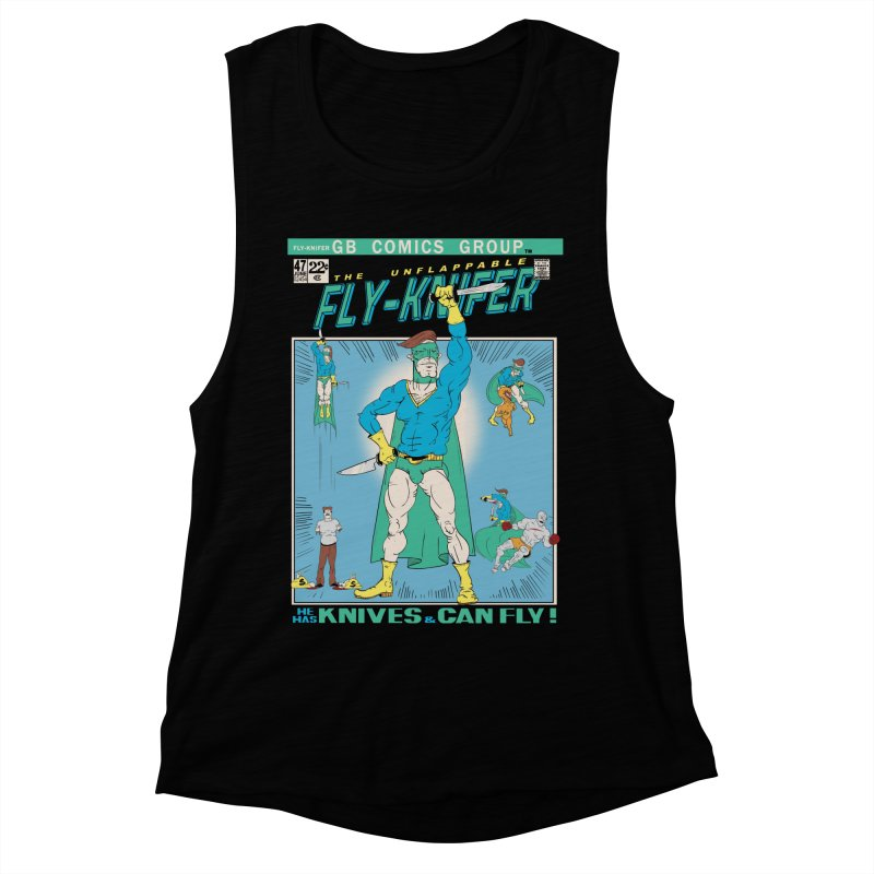 The Unflappable Fly-Knifer Women's Muscle Tank by foodstampdavis's Artist Shop