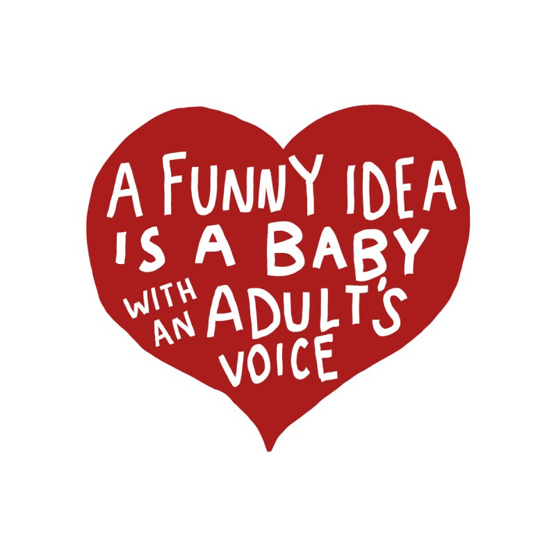 A Funny Idea Is A Baby With An Adult's Voice Women's V-Neck by foodstampdavis's Artist Shop