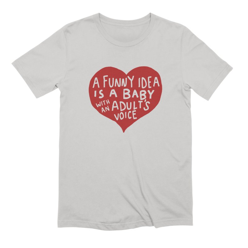 A Funny Idea Is A Baby With An Adult's Voice Men's Extra Soft T-Shirt by foodstampdavis's Artist Shop