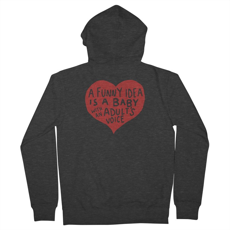 A Funny Idea Is A Baby With An Adult's Voice Men's French Terry Zip-Up Hoody by foodstampdavis's Artist Shop