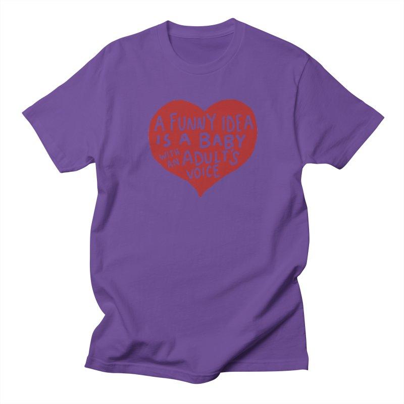 A Funny Idea Is A Baby With An Adult's Voice Women's Regular Unisex T-Shirt by foodstampdavis's Artist Shop
