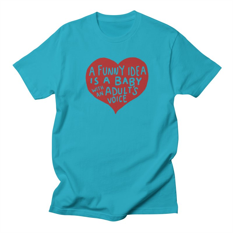 A Funny Idea Is A Baby With An Adult's Voice Men's Regular T-Shirt by foodstampdavis's Artist Shop