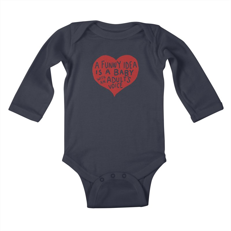 A Funny Idea Is A Baby With An Adult's Voice Kids Baby Longsleeve Bodysuit by foodstampdavis's Artist Shop