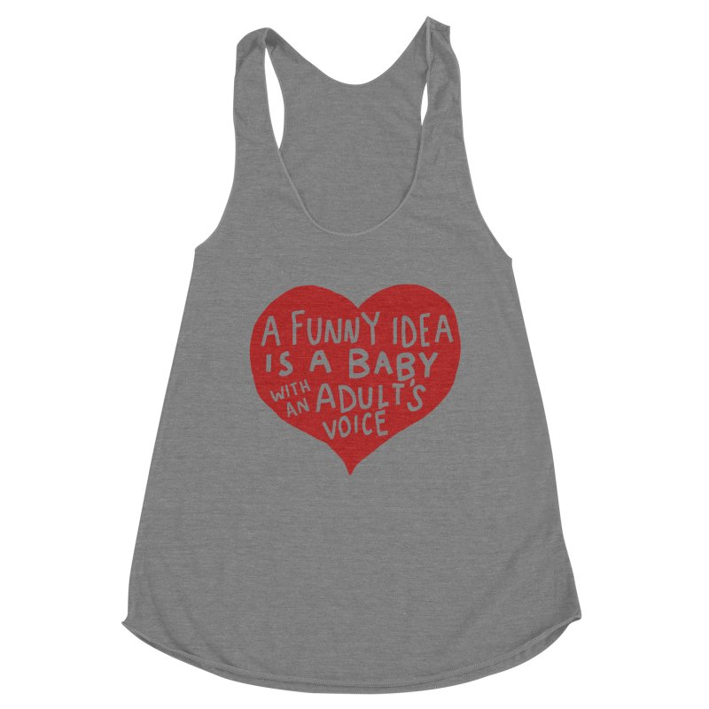 A Funny Idea Is A Baby With An Adult's Voice Women's Tank by foodstampdavis's Artist Shop