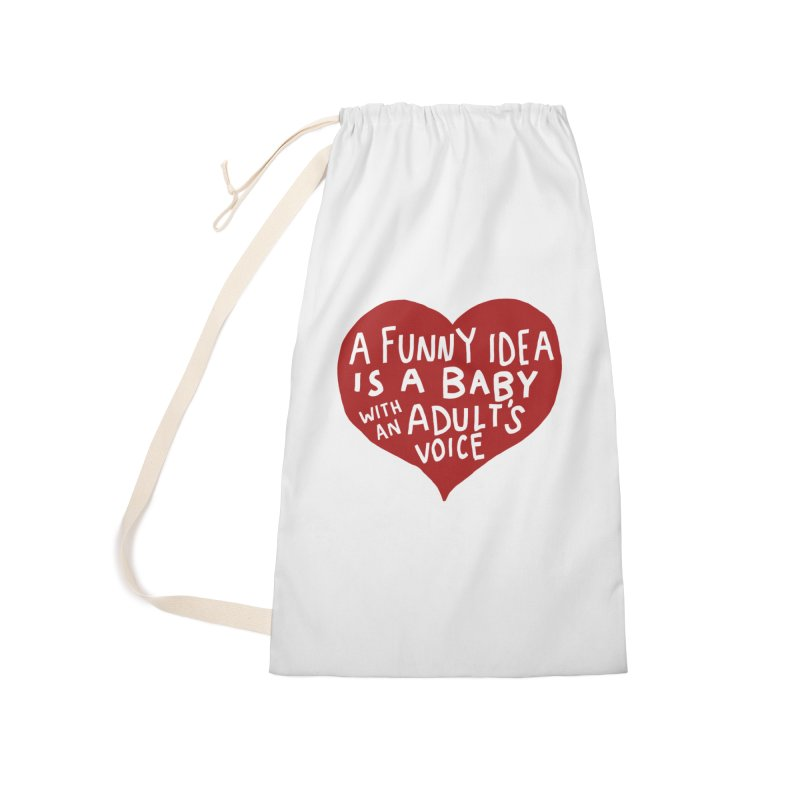 A Funny Idea Is A Baby With An Adult's Voice Accessories Laundry Bag Bag by foodstampdavis's Artist Shop