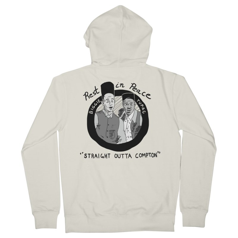 En Double You Ay Men's French Terry Zip-Up Hoody by foodstampdavis's Artist Shop