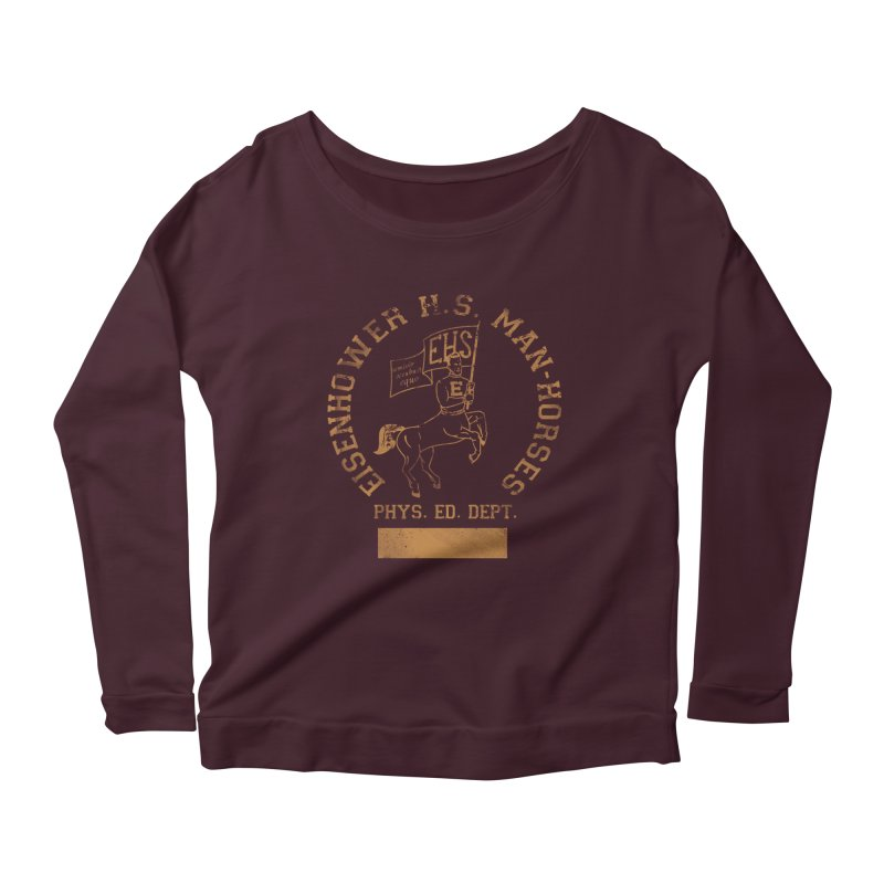 Property of EHS Phys Ed Women's Scoop Neck Longsleeve T-Shirt by foodstampdavis's Artist Shop