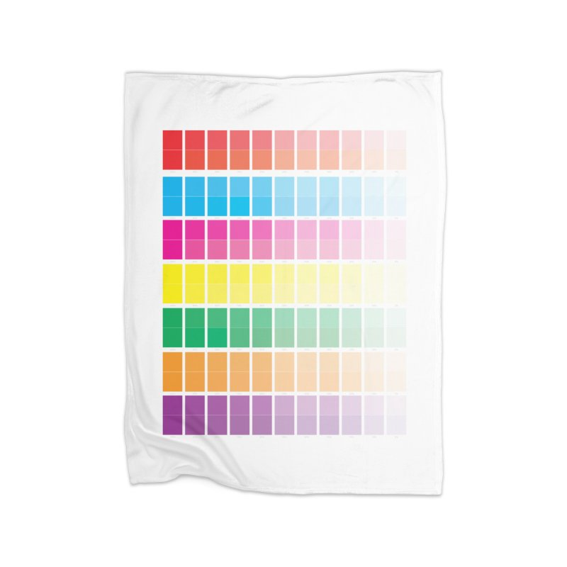 Test Pattern Home Fleece Blanket Blanket by Feed me tacos!