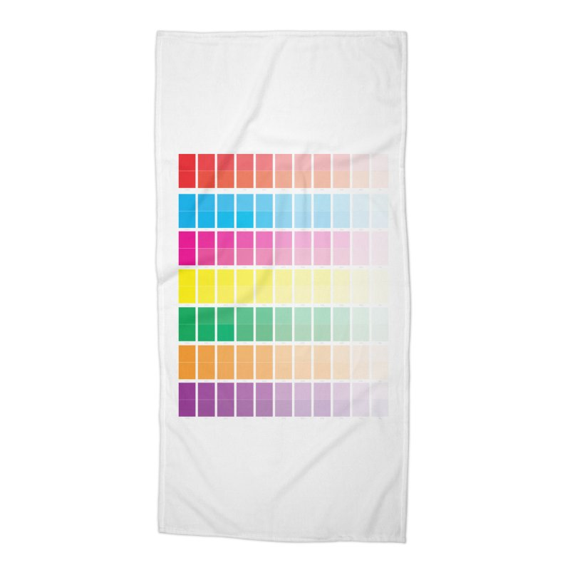 Test Pattern Accessories Beach Towel by Feed me tacos!