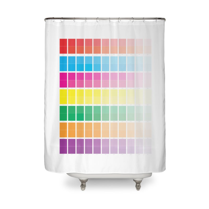 Test Pattern Home Shower Curtain by Feed me tacos!