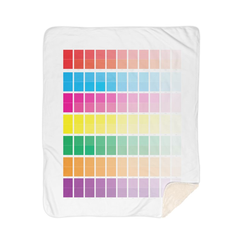 Test Pattern Home Sherpa Blanket Blanket by Feed me tacos!