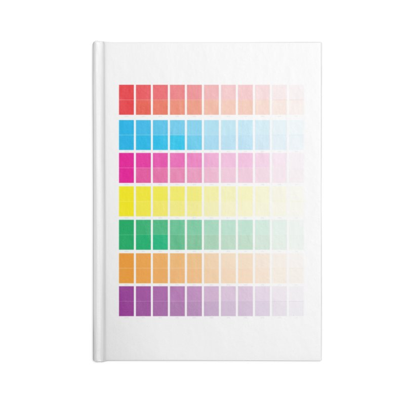 Test Pattern Accessories Blank Journal Notebook by Feed me tacos!