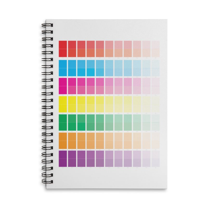 Test Pattern Accessories Lined Spiral Notebook by Feed me tacos!