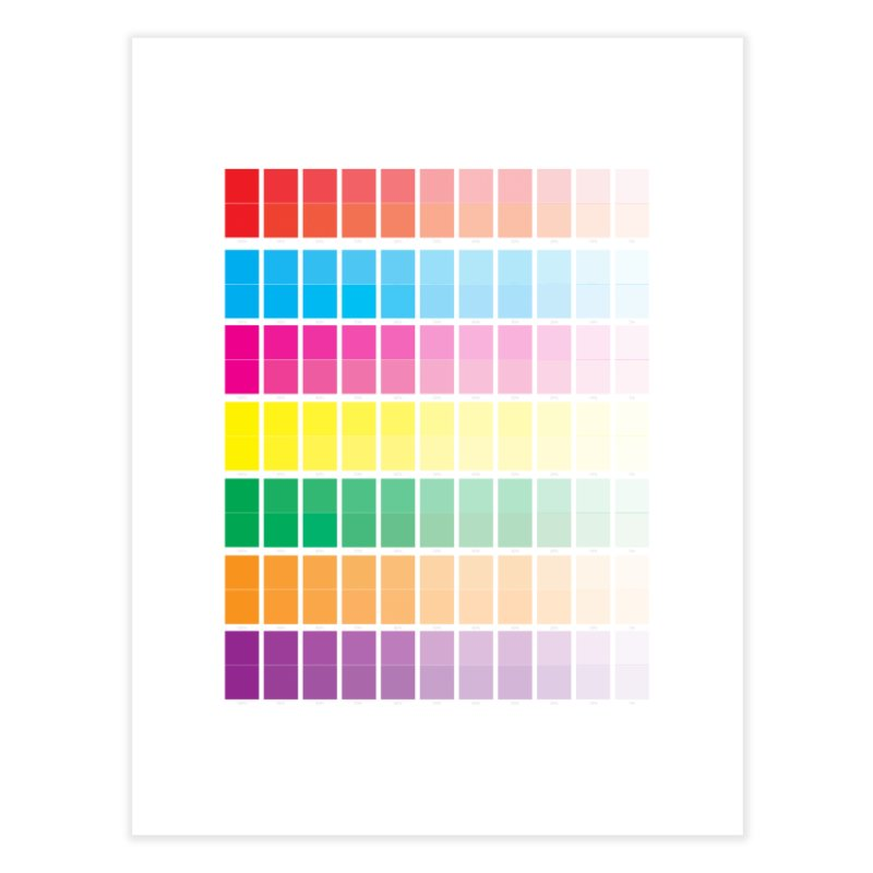 Test Pattern Home Fine Art Print by Feed me tacos!
