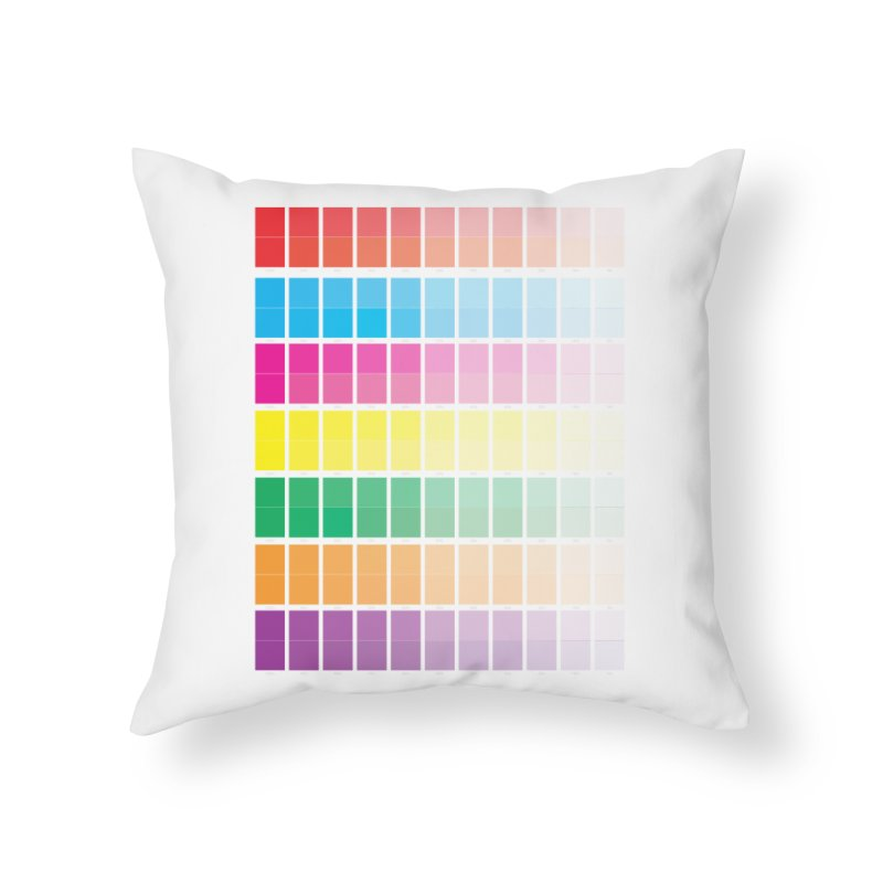 Test Pattern Home Throw Pillow by Feed me tacos!