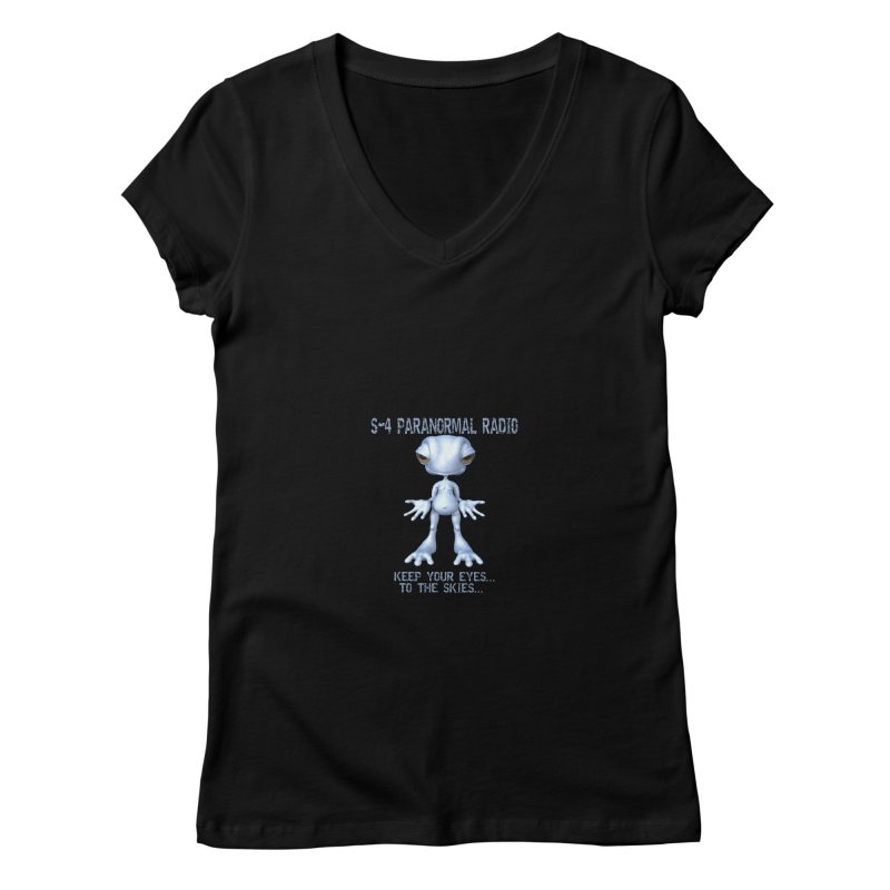 S-4 RADIO Women's V-Neck by forestmoonparanormal's Artist Shop