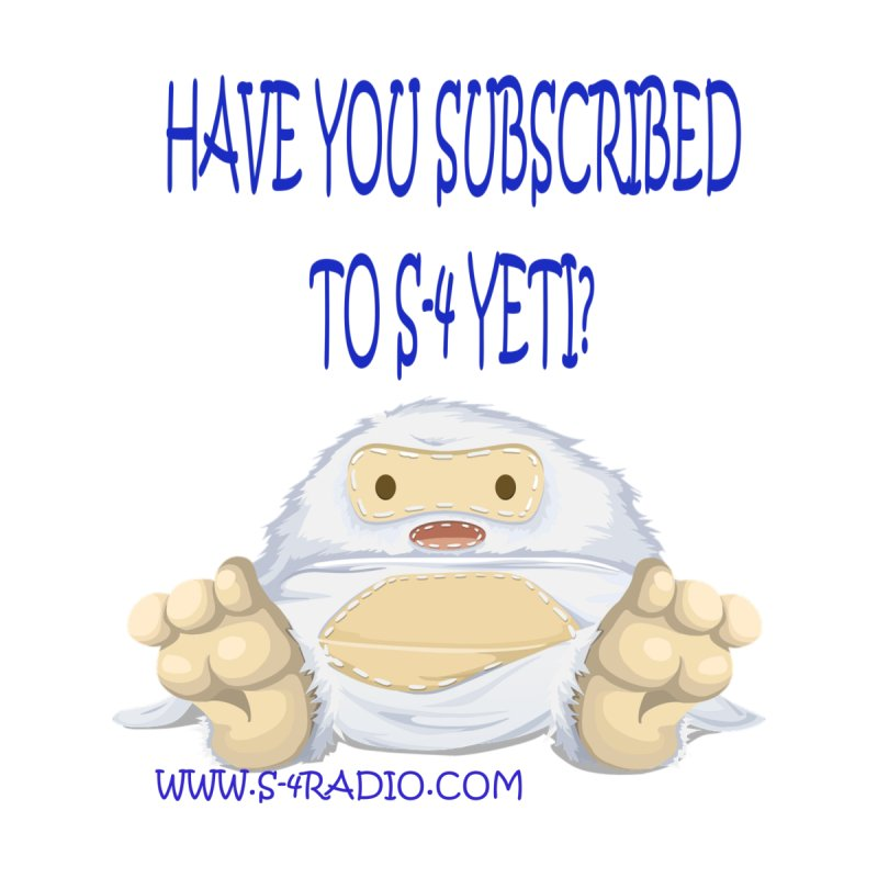 S-4 RADIO YETI Accessories Sticker by forestmoonparanormal's Artist Shop