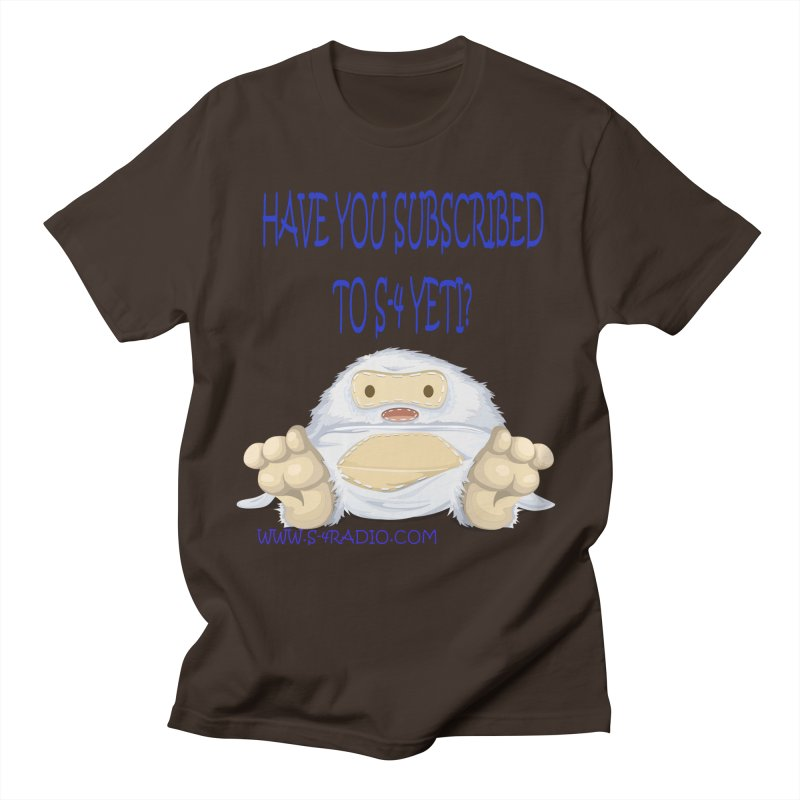 S-4 RADIO YETI Men's T-Shirt by forestmoonparanormal's Artist Shop