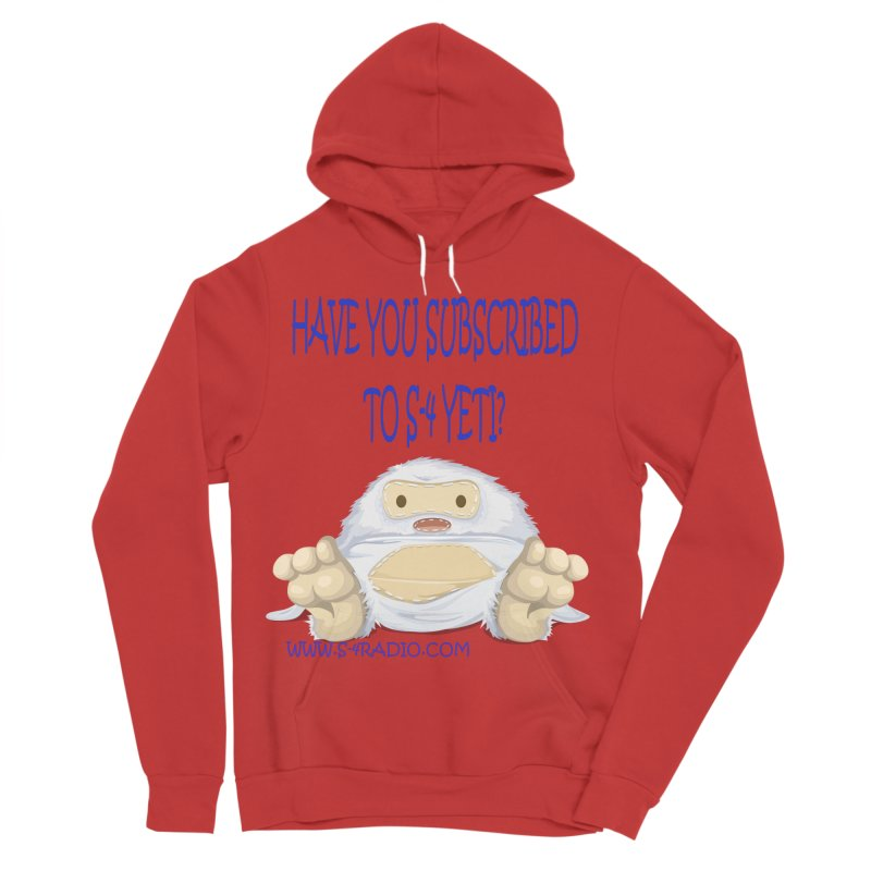 S-4 RADIO YETI Men's Sponge Fleece Pullover Hoody by forestmoonparanormal's Artist Shop