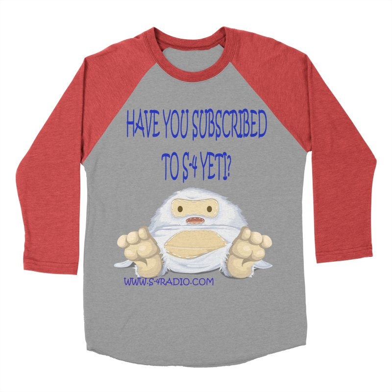 S-4 RADIO YETI Women's Baseball Triblend Longsleeve T-Shirt by forestmoonparanormal's Artist Shop