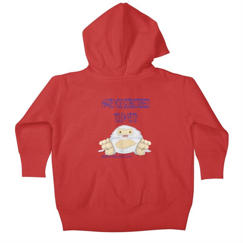 S-4 RADIO YETI Kids Baby Zip-Up Hoody by forestmoonparanormal's Artist Shop