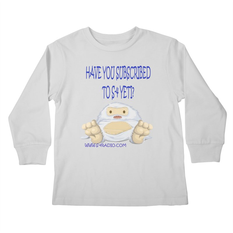 S-4 RADIO YETI Kids Longsleeve T-Shirt by forestmoonparanormal's Artist Shop
