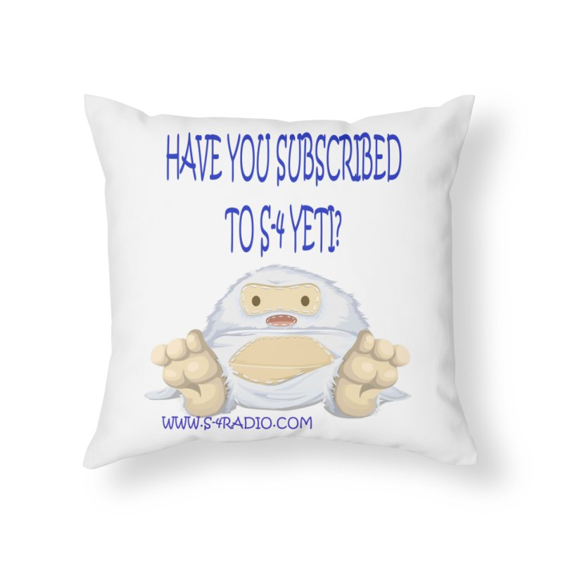 S-4 RADIO YETI Home Throw Pillow by forestmoonparanormal's Artist Shop