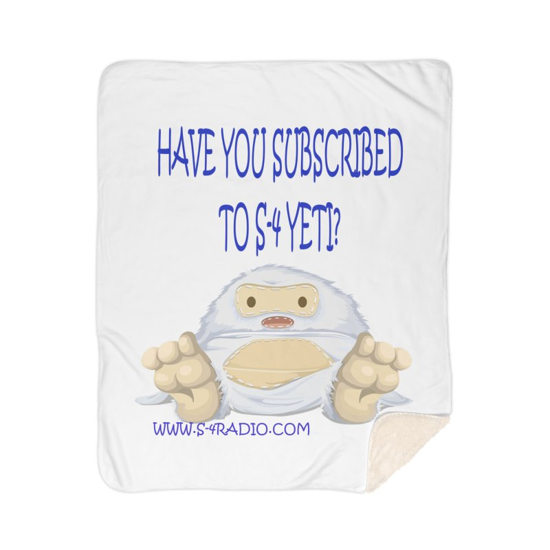 S-4 RADIO YETI Home Sherpa Blanket Blanket by forestmoonparanormal's Artist Shop